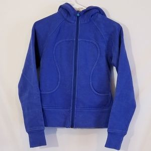 Lululemon scuba hoodie blue  Sz 4